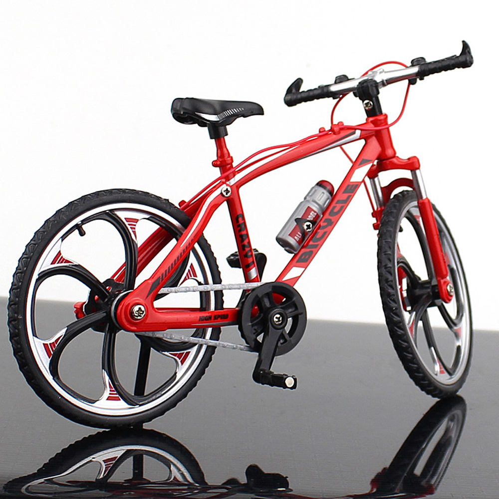 Миниатюрный велосипед коллекция игрушечный мотоцикл моделирование велосипед сплав многоцветный Декор безопасный материал Альпинизм Новинка Велосипед коллекция - Цвет: Road racing red