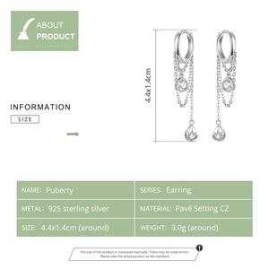 Image 4 - BISAER Rock Style 925 Sterling Silver Geometric Hyperbole Stud Earrings for Women Cubic Zircon Sterling Silver Jewelry ECE638