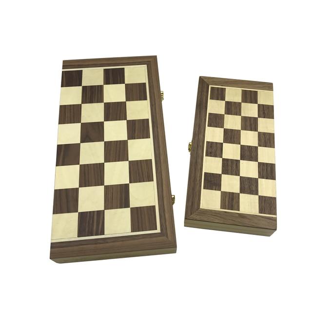 Yernea-ensemble d'échecs en bois massif, jeu d'échecs pliant, Puzzle haut de gamme, pièces en bois massif 6
