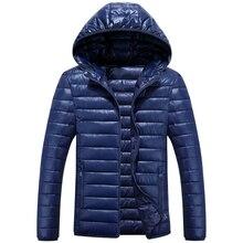 L-5XL Male Cotton Padded Thicken Hoodie Jacket Autumn Winter Men Big Size Windbreak Solid Outwear Coat Varsity Warm Jacket 810