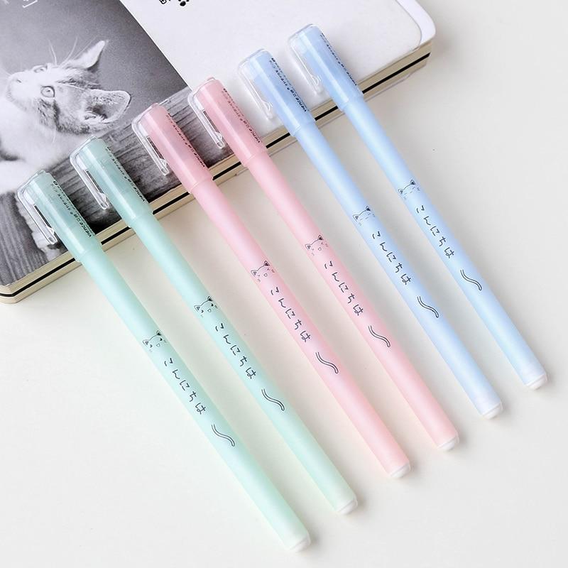 MIRUI канцелярские Корея простой, маленький, новый гелевая ручка милый студент ручка 0,38 мм черные чернила