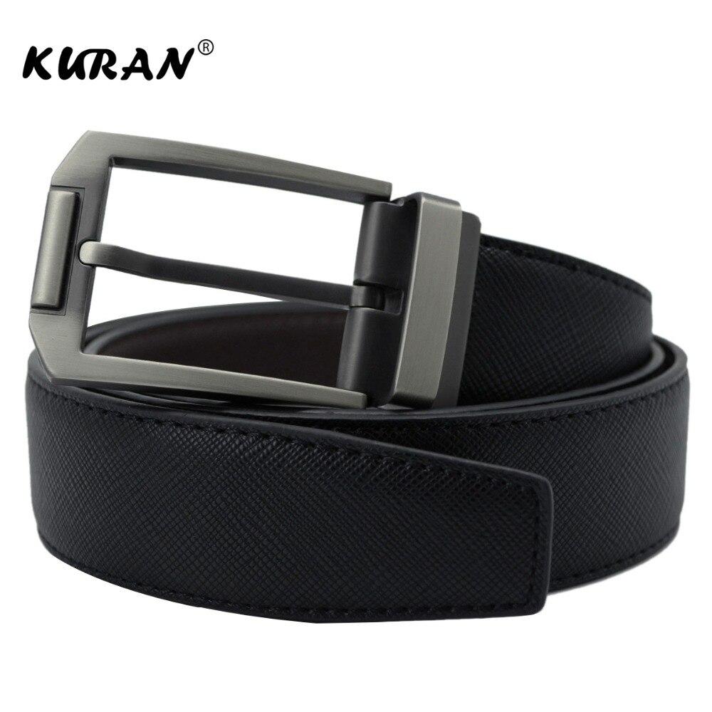 2018 New Designer Famous Brand Men Luxury Belts Men Belts Male Waist Strap Real Cowskin Leather and Pin Buckle Belt
