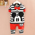 2016 autumn winter Mickey Children's Clothing sets for girl clothes Hoodie+pant cotton long sleeve kids clothes baby boy clothes