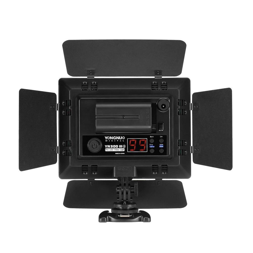 Yongnuo YN300 III YN-300 III 3200k-5500K CRI95 Camera Photo LED Video Light Optional with AC Power Adapter + Battery KIT 5