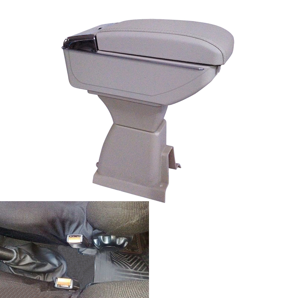 Leather Car Interior Parts Center Console Armrest Box for Ford Fiesta 2003 2004 2005 2006 2007 2008 / Fiat Armrests with USB fit for audi a4 b6 b7 armrest arm rest center console storage box lid cover car interior styling 2002 2003 2004 2005 2006 2007