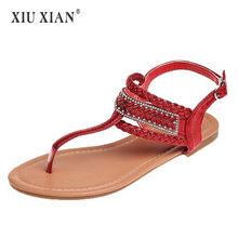 c3ac1197d21 2018 Verão Novas Mulheres Da Moda Sandálias De Luxo Jóia de Cristal  Encantador Da Senhora Sandálias