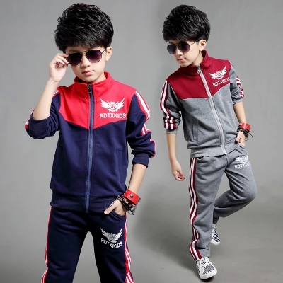 Free shipping new arrival children clothing set spring/autumn sport suit two-pieces suit boy leisure suit new arrival spring autumn children clothing set 100% cotton boy leisure navy style long sleeve t shirt pants suit free shipping