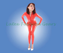 2016 new fashion latex bodysuit front zipper exotic apparel costumes for adult female clubwear rubber catsuit custom made