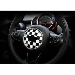 Image 3 - Union Jack Steering Wheel Center Sticker Decals Decoration for BMW MINI Cooper JCW F55 F56 Interior Car Styling Accessories