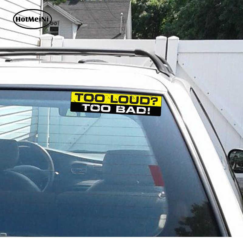HotMeiNi 15 センチ × 3 センチ車スタイリングあまりにも大声であまりにも悪いデカールステッカービニールおかしいバンパー jdm vtec 排気サウンドウーファー車のステッカー