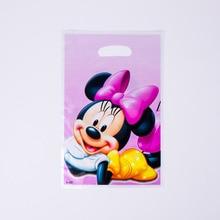 6pcs Cartoon Minnie Party Supplies gift bag Birthday Decoration Mariage Baby Shower happy Supplier Wedding Christmas