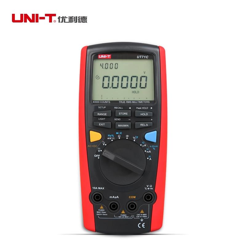 professional Intelligent LCD Digital MultiMeter UNI-T UT71C  AC DC  Volt Ampere Ohm Capacitance Temp Meter