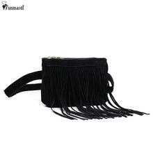 Funmardi nova chegada pacotes de cintura feminina moda design simples sacos de cintura clássico na moda sacos de borla do vintage wlam0144
