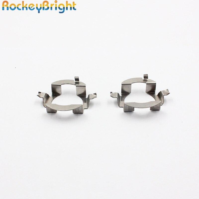 Rockeybright 10pcs Car H7 Led Headlight Bulb Holder Adapter Socket Base For Mercedez Benz E Class/ml350 H7 Led Bulb Adaptor Base Car Lights
