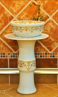 Washbasin ceramic wash basin pedestal basin surface platform