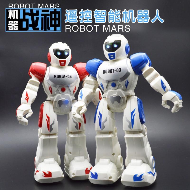 new intelligent robot remote control toys fun die-casting robot intelligent children electric remote control toy robot model