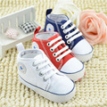 Cute Stars Baby Shoes 0-1-year-old baby shoe girls Lace up Shallow Newborn Infant Kid First Walk soft-bottom learning