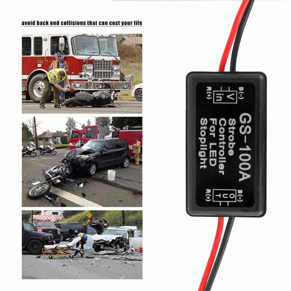 GS-100A контроллер вспышки Flasher Модуль для автомобиля светодиодный стоп-светильник 12--24в Водонепроницаемый Защита от короткого замыкания