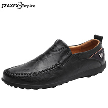 Men Genuine Leather Shoes Fashion Slip On For Italian Loafers Luxury Brand Casual