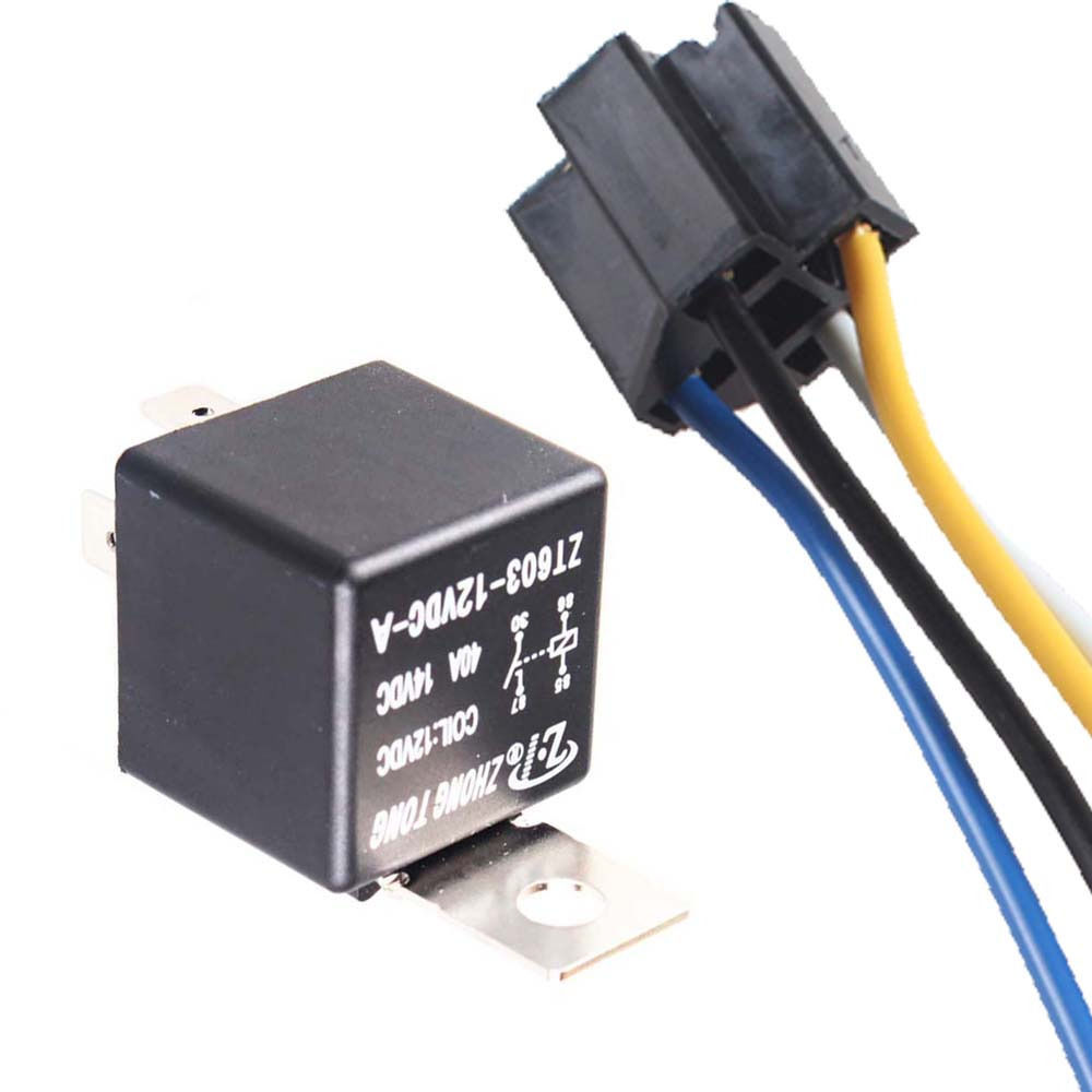 Lowered Ee Support Car Automotive 12v 40a Amp Spst Relay Socket 4 Prong 12 Volt Harness Pin 4p