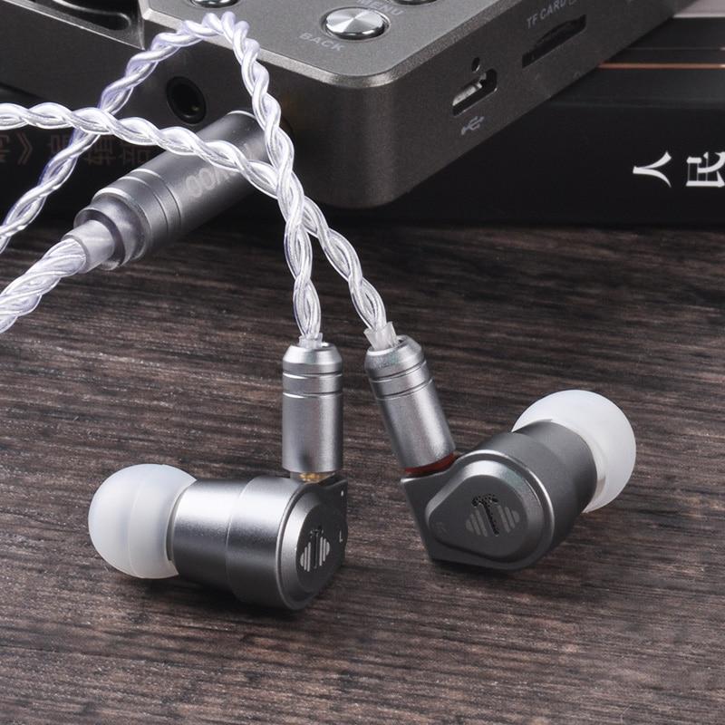 Yinyoo V2 Version 3(Final Tuning) High End USA Import Dual Diaphragm 1DD Dynamic Driver In Ear Earphone HIFI  Earphone  Earbud