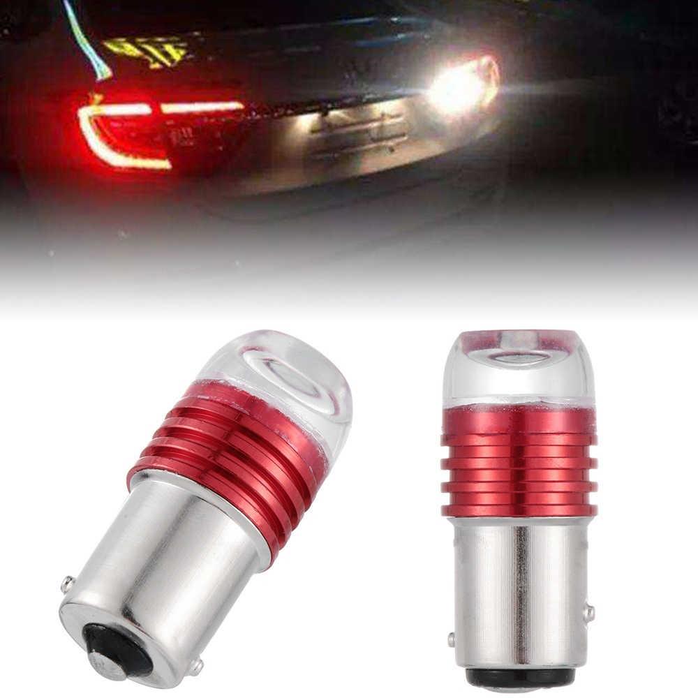 2pcs אוטומטי 1157 led BAY15D P21/5 W רכב אור בלם מצמוץ אור מנורת הנורה DC12V אדום כחול צהוב אוטומטי זנב להפסיק אור