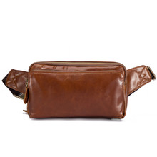 Guangzhou New Real Crazy Horse Breast bag Business package Outdoor Sports waist bag Kraft Leather Recreation bag B621