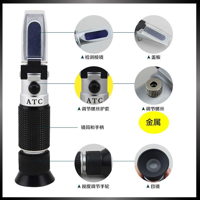 Concentration d'alcool Détecteur De Liqueur Alcool Mètre Réfractomètre Réfractomètre 0-80% Alcoomètre Oenometer
