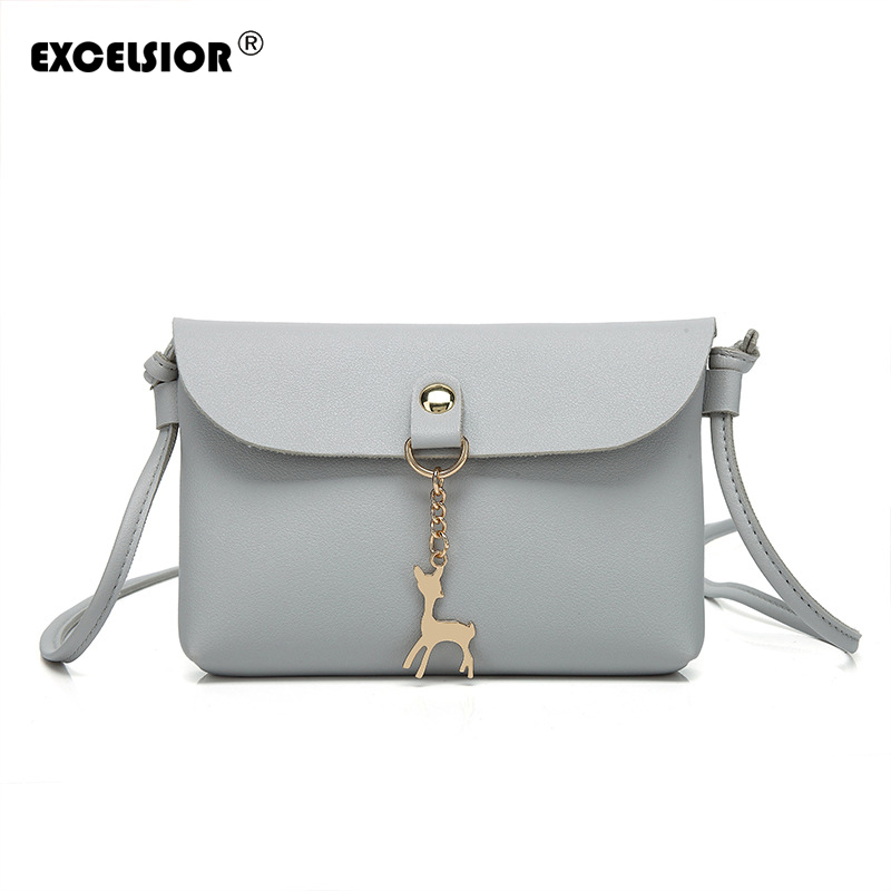 EXCELSIOR Women Messenger Bags High Quality Cross Body Bag PU Leather Mini Female Shoulder Bag Handbags Bolsas Feminina 2016 high quality pu women bag fashion handbags fresh totes cross body bag shoulder bags