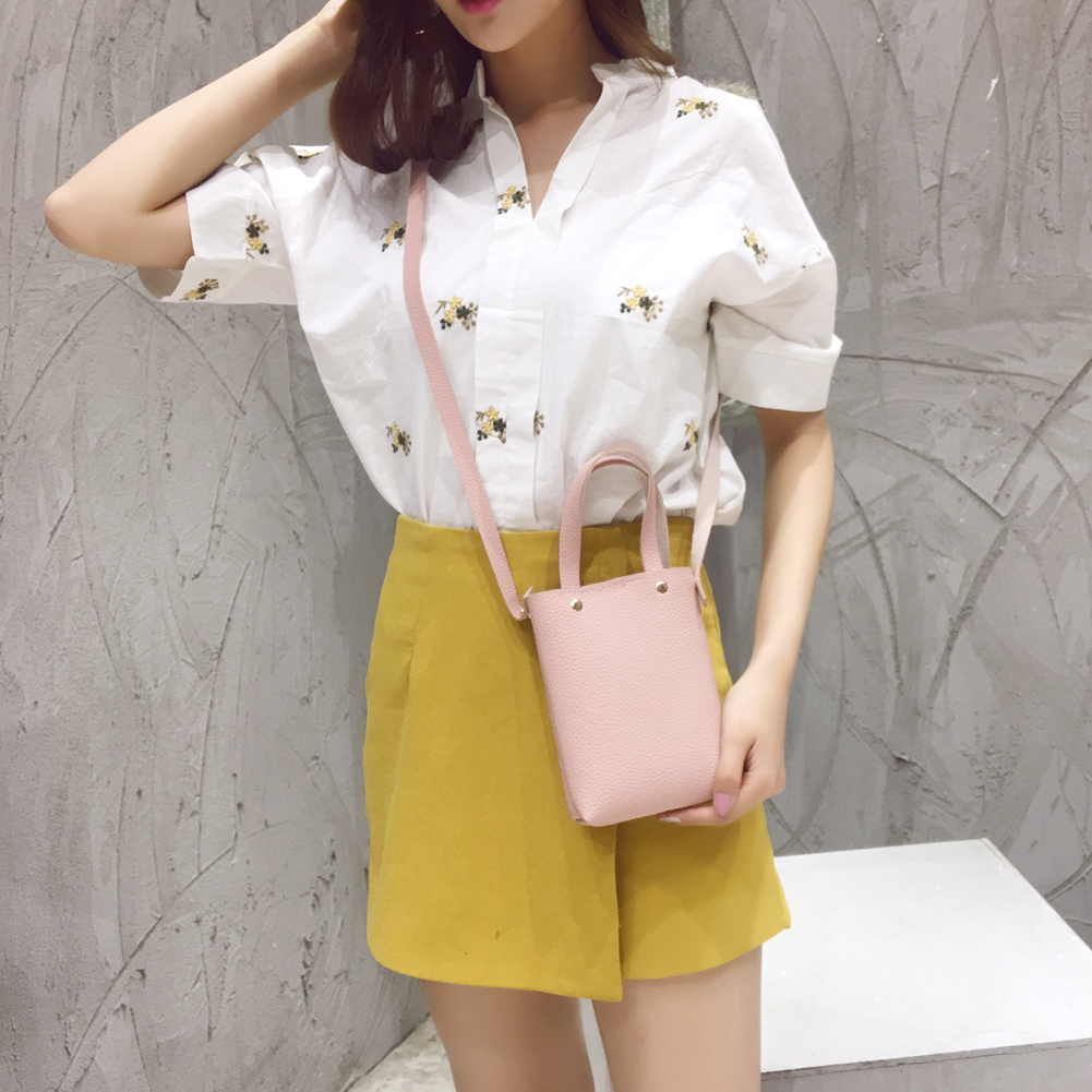 New Fashion Small Bags Women PU Leather Handbags Casual Shoulder Crossbody Bags Lady's Messenger Bag Mini Bucket Bolsos Mujer heart shape ru bun lock children puzzle toy building blocks