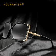 HDCRAFTER Sunglasses Women Brand Designer Ladies Oversize Square UV400 High Quality Sun Glasses lunette de soleil