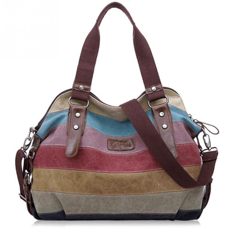 Canvas Shoulder Bag Women Patchwork Messenger Bags Casual Crossbody Bags Handbags Women Famous Brands Tote bolsos mujer tassen
