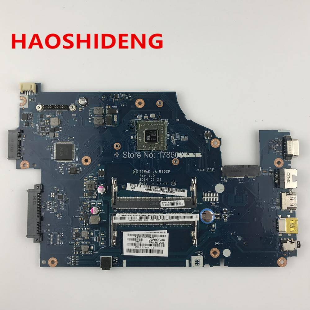 LA-B232P For Acer aspire E5-521 laptop motherboard.All functions fully Tested ! nokotion for acer aspire 5750 laptop motherboard p5we0 la 6901p mainboard mbrcg02005 mb rcg02 005 mother board