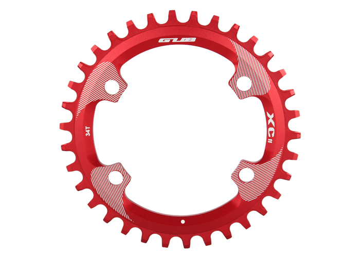 Free shipping GUB XC11 round chainring (34T) anode laser engraved laser marking CNC AL7075 fit for SHIMANO M8000