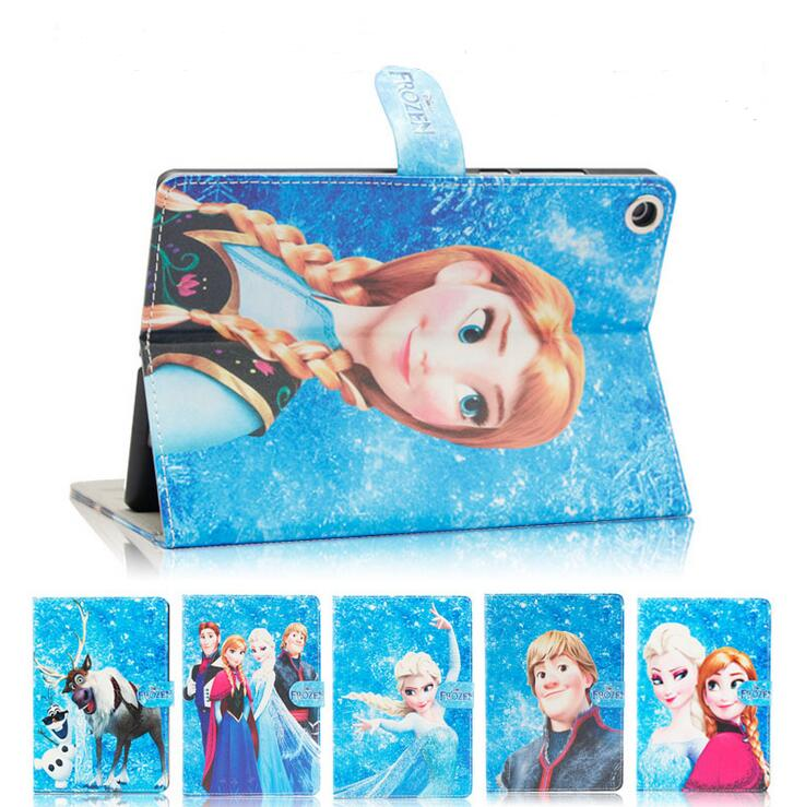 Beautiful Elsa Princess Cartoon Character Flip Stand PU Leather Tablet Cover Case for iPad 2 3 4 beautiful darkness