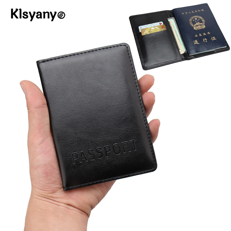 grand choix de 2019 super service vente chaude en ligne US $2.25 40% OFF|Russia France PU Leather Passport Cover with Credit Card  Holder Protector Cover Case Porte Carte Bancaire Etui Carte Bancaire-in  Card ...
