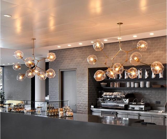 The Chandelier    Beanstalk are molecular chandeliers, 3/5/6/7/8/9/10/11 lamp glass ball spider Chandelier