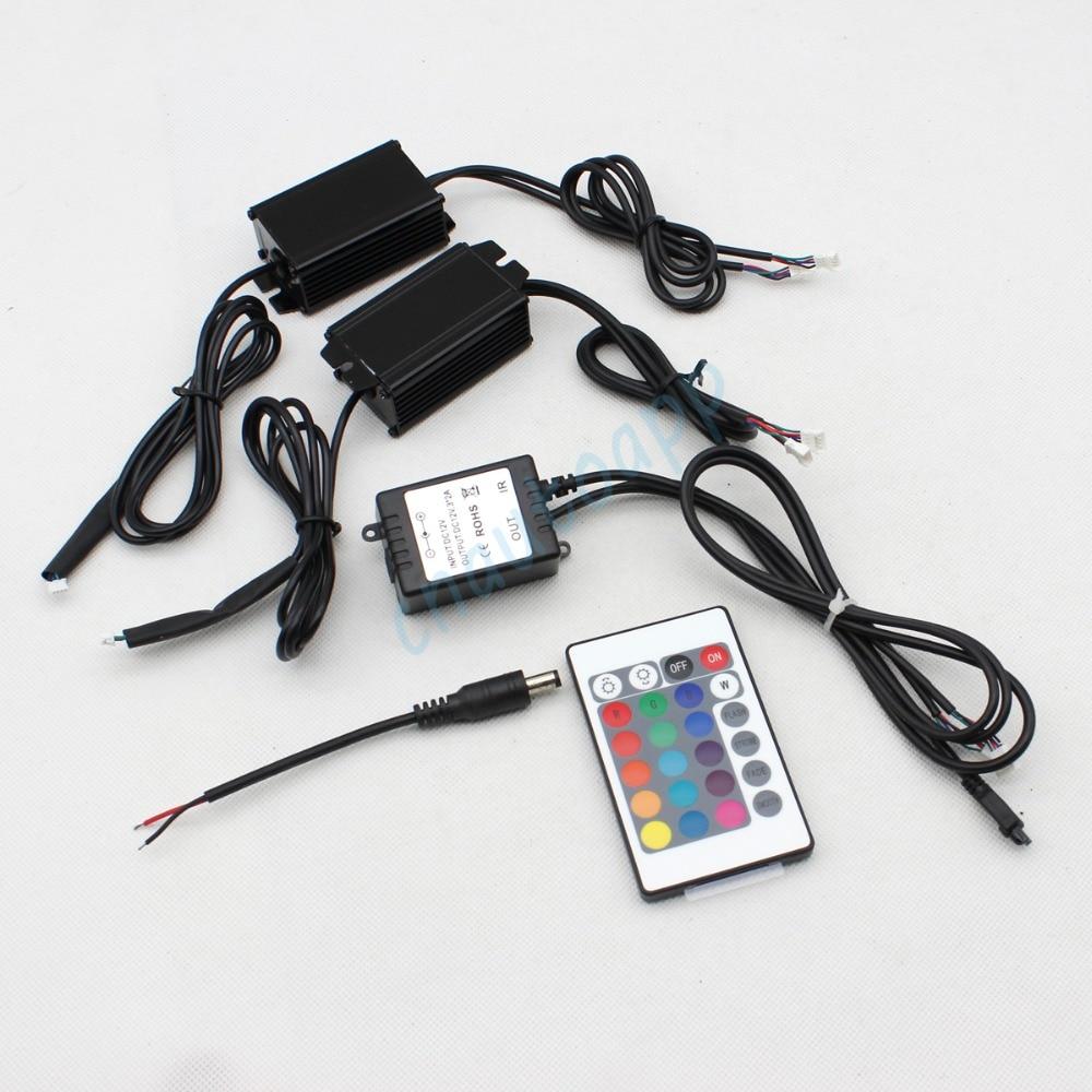 RGB Angel Eyes Multi-Color LED Ring Kthesë DRL Dritë e makinave të - Dritat e makinave - Foto 3