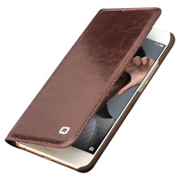 QIALINO Case For Huawei Honor 9 Handmade Genuine Leather Wallet Flip Cover For Huawei Honor 9