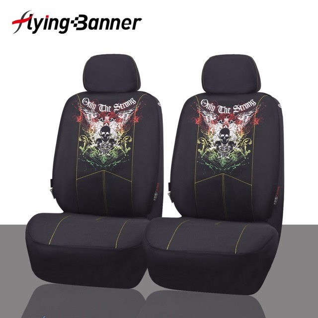 Front Car Seat Covers Fashion Style Universal Fit Car Accessories Auto Seat Protectors Car Styling