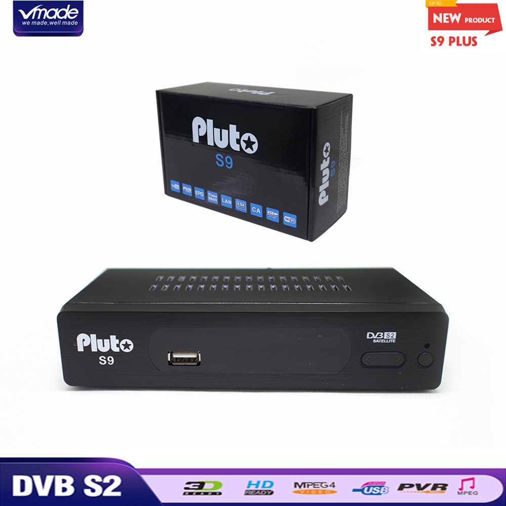 Vmade 2019 S2 Pluto DVB-S2 S9 HD Receptor de Satélite Digital TV Tuner Receptor MPEG-2/4 H.264 Suporte Youtube Bisskey IPTV Cccam