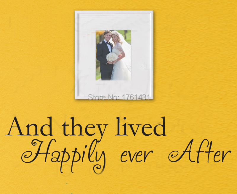 They Lived Happily Ever After Marriage Love wall decals vinyl ...