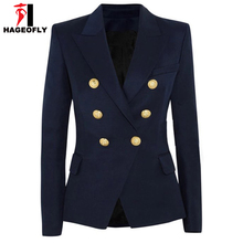 Casual Double Breasted Metal Buttons blazer