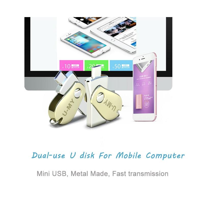 웃 유Mini USB pen drive 16 GB flash drive OTG para teléfono Android ...