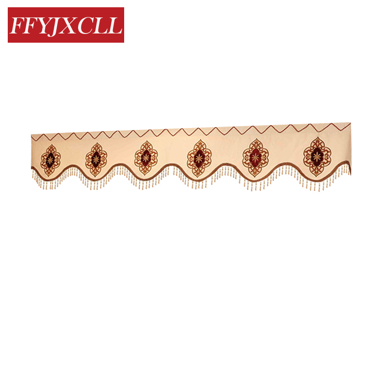 Exquisite 1 Piece Pelmet Valance Europe Luxury Home Decor Valance Curtains for Living Room Window Curtains