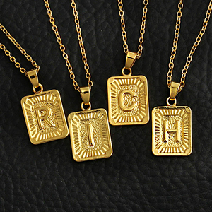 Tiny Gold Initial A-Z Letter N