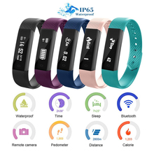 ID115 Smart Bracelet Fitness Tracker Pedometer Activity Monitor Band Alarm Clock Call Vibration Wristband for IOS Android Phone(China)