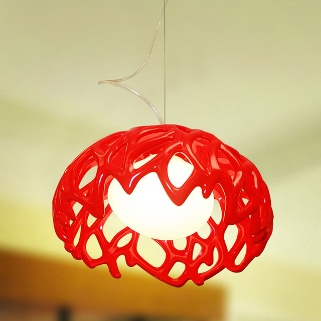 Contemporary Pendant Lighting For Kitchen Red Pendant Lamp Linear - Red pendant lights for kitchen