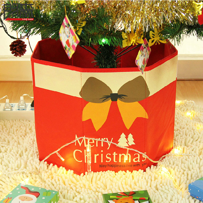 3036cm non woven fabric christmas tree decorative christmas tree foot box tree ornaments bottom christmas decoration in tree skirts from home garden on - Decorative Christmas Tree Stands