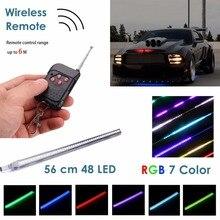 7-Цвет RGB светодиодный Knight Rider сканер Свет Сканер Бар полосы комплект с Беспроводной удаленного Управление